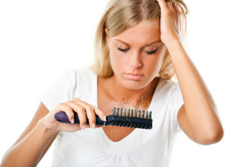 CAída de cabello por nervios